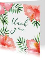 Bedankkaart Tropical - WW