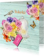 Bedankkaartjes - Bedankt vrolijke bloemen