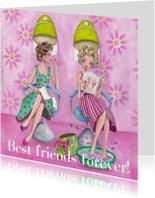 Best Friends Forever Kapper Illustratie
