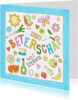 Beterschapskaarten - Beterschap, kleine illustraties
