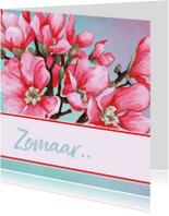 Zomaar kaarten - Blanco Kaart Met Magnolia
