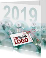 Zakelijke kerstkaarten - Blauwe kerstballen 2019 vk