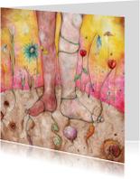 Bloemenkaarten - Bloemenkaart Mixed Roots