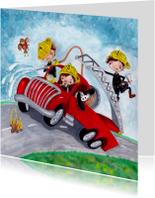 Brandweer Auto Illustratie