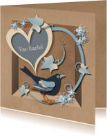 Verjaardagskaarten - Brown Paper Box Blackbird Man