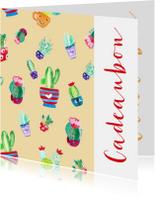 Kaarten mailing - Cadeaubon interieur lifestyle zakelijk zzp