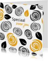 Kaarten mailing - Cadeaubon zakelijk zzp bloemen patroon