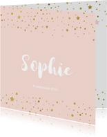 Chique geboortekaartje meisje confetti