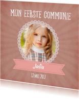 Communie kaart roze - SU