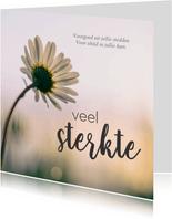 Condoleancekaarten - Condoleance - foto bloem veel sterkte