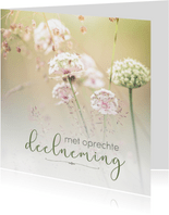 Condoleance - met oprechte deelneming bloemen 2