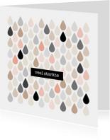 Condoleancekaarten - Condoleancekaart Druppels - HB