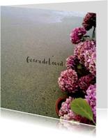Condoleancekaarten - Condoleancekaart, Hortensia's langs de sloot
