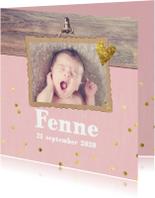 Confetti geboortekaartje