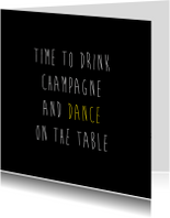 Uitnodigingen - Dance on the table