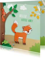 Dieren in het bos felicitatiekaart