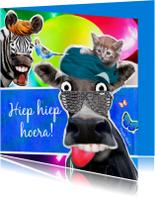 Verjaardagskaarten - Dieren verjaardagskaart