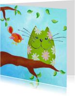 Dierenkaart Kat en Vogel 4