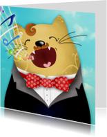 Dierenkaarten - Dierenkaart katten zanger