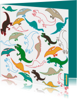 Dinosaurussen in vrolijke kleuren