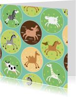 Kinderkaarten - Een blije basic beestenboel