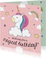 Eenhoorn Verjaardagskaart