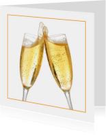 Feestkaart champagne