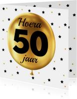 Felicitatie 50 jaar Ballon goud