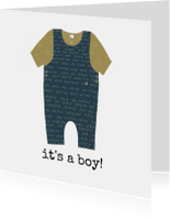 Felicitatiekaarten - Felicitatie Babypakje Jongen