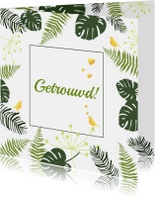 Felicitatie - Botanisch huwelijk goud