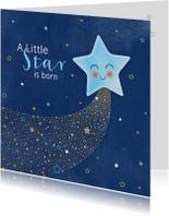 Felicitatiekaarten - Felicitatie geboorte A star is born voor een zoon