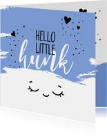 Felicitatiekaarten - Felicitatie geboorte Hello little hunk