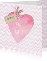 Felicitatiekaarten - Felicitatie geboorte meisje hart