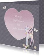 Felicitatiekaarten - Felicitatie geboorte met hertje