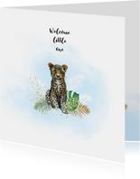 Felicitatiekaarten - Felicitatie geboorte panter