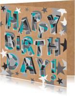 Felicitatiekaarten - Felicitatie-Happy birthday-HK