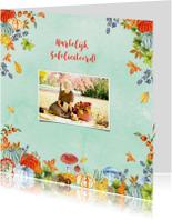 Felicitatiekaarten - Felicitatie herfsttafereel