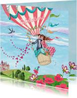 Felicitatie huwelijk Luchtballon