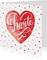 Felicitatie huwelijk rood hart