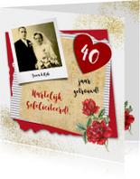 Felicitatie huwelijksjubileum roos