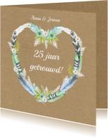Felicitatiekaarten - felicitatie jubileum hart veren