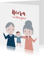 Felicitatiekaarten - Felicitatie kleinzoon illustratie