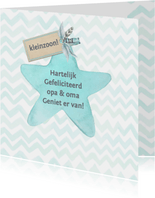 Felicitatie kleinzoon ster label