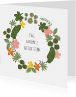 Felicitatiekaarten - Felicitatie Krans