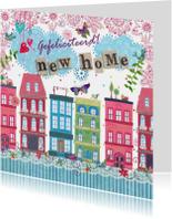 Felicitatie nieuwe woning HUISJES stad