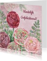 Verjaardagskaarten - Felicitatie ranonkels