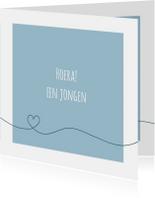 Felicitatiekaarten - Felicitatie - Simpe hart blauw