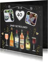 Felicitatie trouwdag wijn
