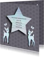 Felicitatiekaarten - Felicitatie tweeling bambi boy