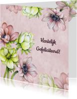 Verjaardagskaarten - Felicitatie verjaardag annemoon